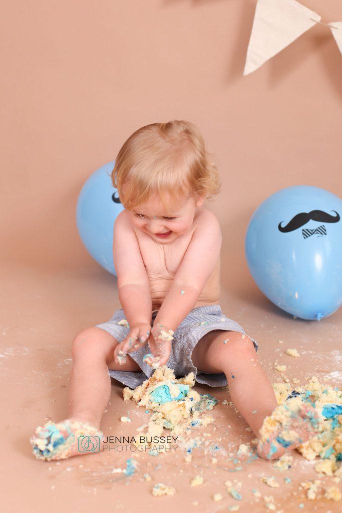 Jenna Bussey Dubai First Birthday Cake Smash Photographer