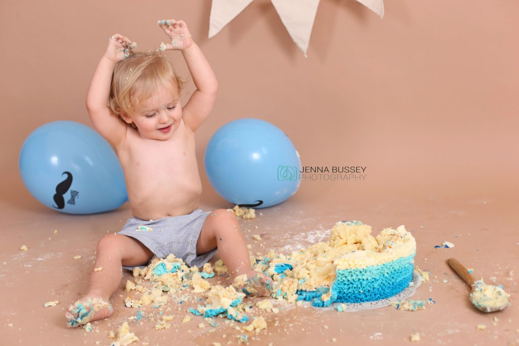Jenna Bussey Dubai First Birthday Cake Smash Photographer